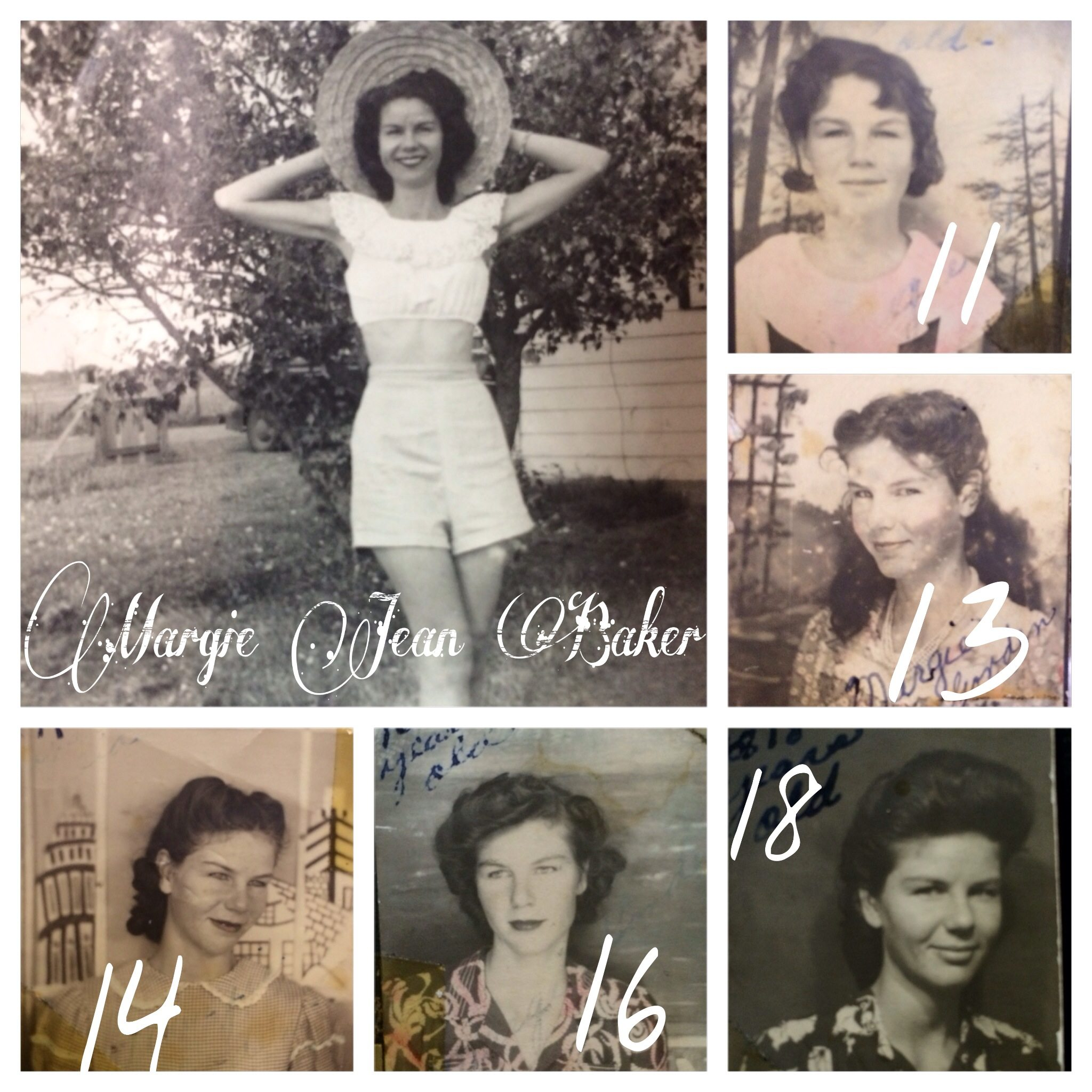 Grandma Margie was great at documenting photos. I love seeing her at different ages in her youth. She was married at 17 and had her first child when she was 19