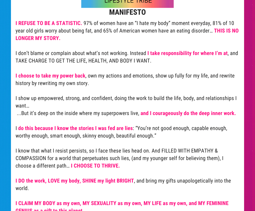 Love it 2 Lose it: Manifesto & Mission